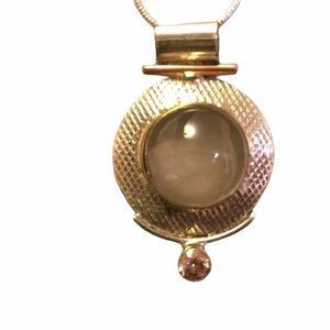 Moonstone Pendant, Sterling Silver